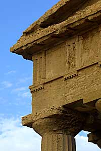 Detail of an Agrigento temple