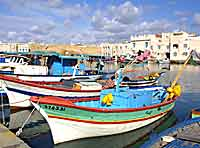 The small fishing harbour in Bizerte