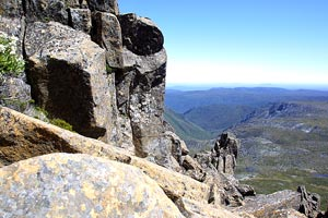 The view towards the top of Cradle Mountain