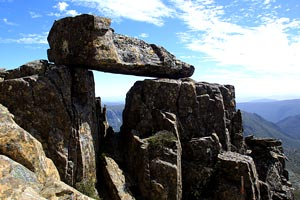Some interesting rock arrangements on Cradle Mountain