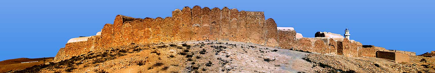 View from the outside Ksar Ouled Soltaine
