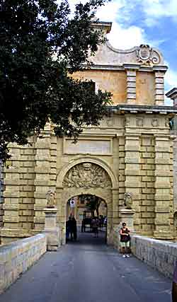 The entrance to Mdina, Malta