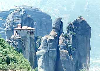 Looking out over the valley of Meteora
