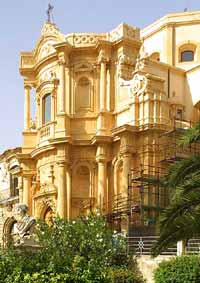 The beautiful rose colored stone of Noto.