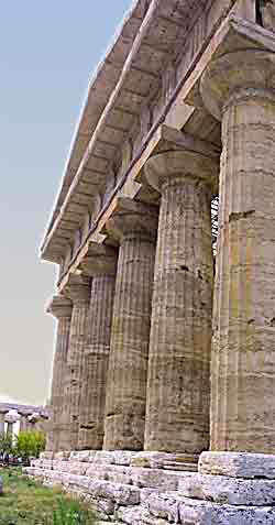 Greek temple in Paestum, Italy