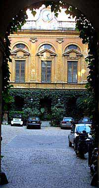 Behind the facade of the Rome palazzos