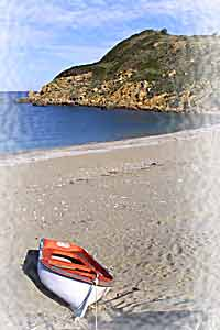 A beach on the Northern coast of the island of Skiathos, Greece - not as busy as Koukounaries